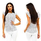 Блуза в дрібний принт (9 кольорів), розмір 42,44,46,48 код 1597А, фото 3