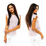 Блуза в дрібний принт (9 кольорів), розмір 42,44,46,48 код 1597А, фото 4