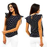 Блуза в дрібний принт (9 кольорів), розмір 42,44,46,48 код 1597А, фото 5