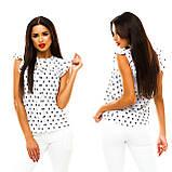 Блуза в дрібний принт (9 кольорів), розмір 42,44,46,48 код 1597А, фото 6