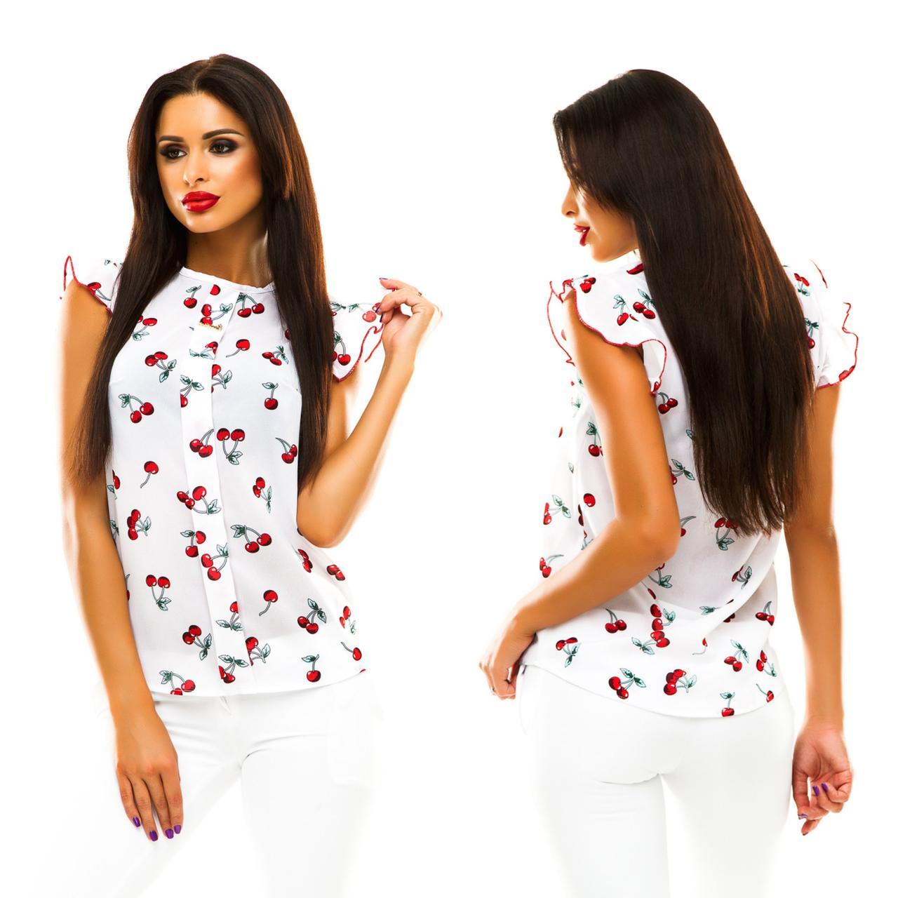 Блуза в дрібний принт (9 кольорів), розмір 42,44,46,48 код 1597А