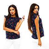 Блуза в дрібний принт (9 кольорів), розмір 42,44,46,48 код 1597А, фото 7