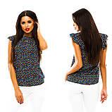Блуза в дрібний принт (9 кольорів), розмір 42,44,46,48 код 1597А, фото 8