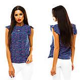 Блуза в дрібний принт (9 кольорів), розмір 42,44,46,48 код 1597А, фото 9