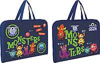 """491232 Папка-портфель на молнии  с тканевыми ручками """"Monsters"""""""