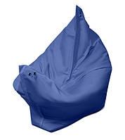 Синее кресло мешок подушка 140*180 см из ткани Оксфорд, кресло-мат, фото 1