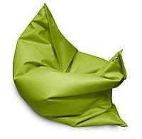 Зеленое кресло мешок подушка 140*180 см из микро-рогожки, кресло-мат, фото 1