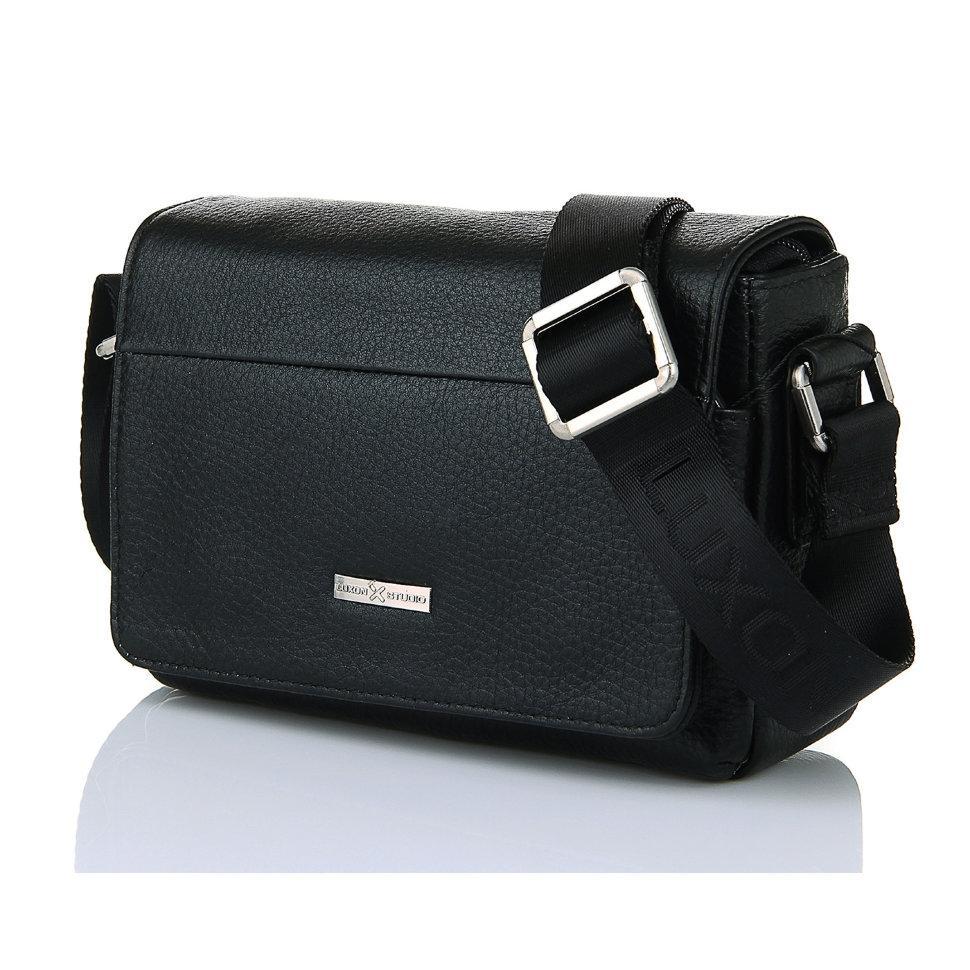 Горизонтальная кожаная сумка Luxon 78006