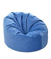 Синее большое кресло мешок из кож зама Зевс
