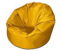 Желтое большое кресло мешок из кож зама Зевс