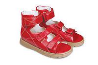 Босоножки детские. Ортопедическая обувь MEMO, модель HELIOS красные (30-36)