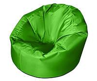 Салатовое большое кресло мешок из кож зама Зевс