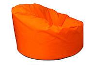Оранжевое большое кресло мешок из кож зама Зевс
