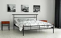 Кровать металлическая Диаз односпальная 90 (Мадера / Madera) 950х2008х1003 мм красный лак