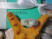 "Кольцо Tiffany & Co / Тиффани ""Кольчужное сердце"" (реплика, размер 17-й)"