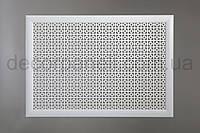 "Решетка (экран) для батарей ""Эфес"", цвет белый, из ХДФ и МДФ 68 см х 98 см х 1,8 см"