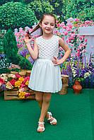 Детский нарядный сарафан Пион молоко р.104-122