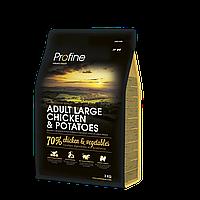 Profine Adult Large Chicken & Potatoes корм для собак крупных пород, курица с картофелем, 3 кг