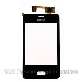 Тачскрин Nokia Asha 501  black с рамкой