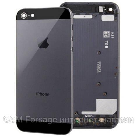 Крышка задняя iPhone 5   Black