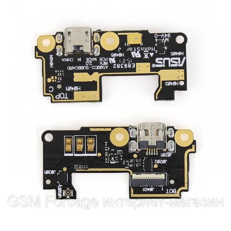 Разъем зарядки Asus ZenFone 5 с платой