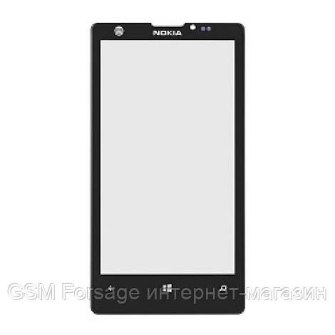 Стекло дисплея Nokia Lumia 1020 Black (для переклейки) (RM-875)
