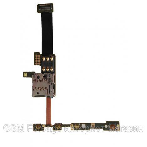 Шлейф Nokia E66 SIM & MMC
