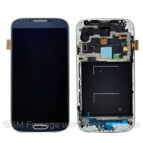 Дисплей Samsung Galaxy S4 GT-I9500 Original comlete with frame  Dark Blue 100%
