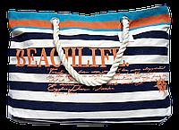 Пляжная женская сумка из ткани полоска WUU-400108