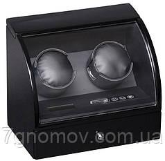 Шкатулка для підзаводу годинників, тайммувер для 2-хгодинників Rothenschild RS-322-2-BB