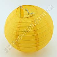 Бумажный подвесной фонарик, темно-желтый, 40 см