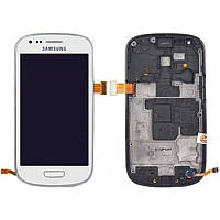 Дисплей Samsung Galaxy S III Mini I8190 Orig complete with frame White