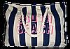 Пляжная женская сумка из ткани полоска WUU-400109