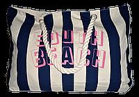Пляжная женская сумка из ткани полоска WUU-400109, фото 1