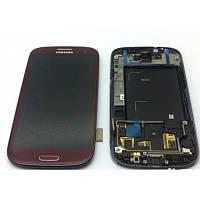 Дисплей Samsung Galaxy S III GT-I9300 Original comlete with frame  Coffe