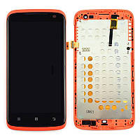 Дисплей Lenovo S820 complete with touch and frame Red Original 100%