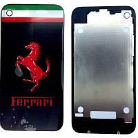 Крышка задняя Iphone 4 Black FERRARI Original qwality