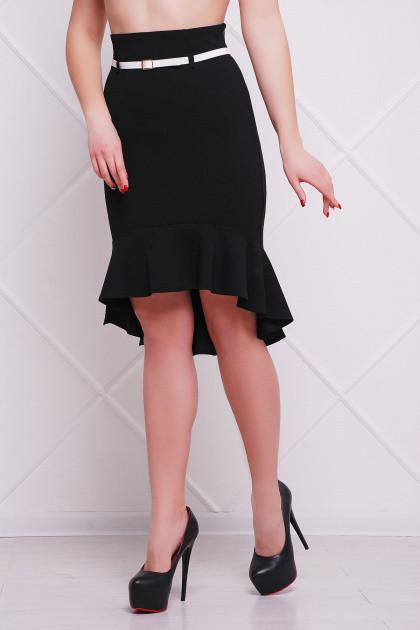 4c92167f9fb Черная женская юбка с воланом купить в интернет магазине