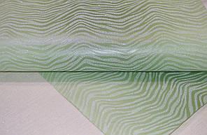 Обои на стену, под зебру, зеленые, акриловые на бумажной основе, B76,4 Соната 4018-04, 0,53х10м., фото 2