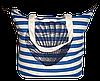 Женская пляжная сумка из ткани с ракушкой WUU-500101