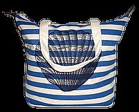 Женская пляжная сумка из ткани с ракушкой WUU-500101, фото 1
