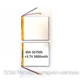 Аккумулятор универсальный 357595   9,3cm х 7,5cm   3,7v   3800mAh