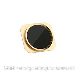 Кнопка центральная iPhone 5   Gold (металическая под 5S)