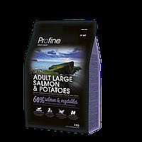 Profine Adult Large Salmon & Potatoes корм для собак крупных пород, лосось с картофелем, 3 кг