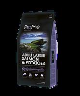 Profine Adult Large Salmon & Potatoes корм для собак крупных пород, лосось с картофелем, 15 кг