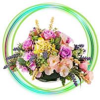 Искусственные цветы, букеты, ветки и пресс-цветок