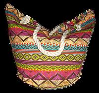 Пляжная женская сумка из ткани с орнаментом WUU-800203
