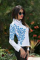 Женская белая стильная рубашка