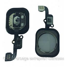 Шлейф iPhone 6  (4,7'')  центральная кнопка Home Complete White