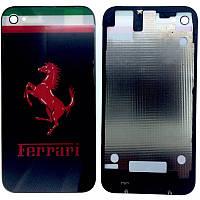 Крышка задняя Iphone 4S Black FERRARI Original qwality